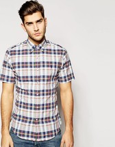 NEW Mens POLO Ralph Lauren Poplin Bleeding Madras Plaid Short Sleeve Shirt - $42.50