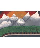 A Mountainous Sunset - Original Painting - $45.00