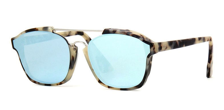 c393f81f2b S l1600. S l1600. Previous. Dior Abstract Sunglasses A4E A4 Fog Havana with  Azure Blue Mirror Lenses