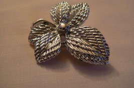 Vintage Gerry's Silver Tone Maple Leaf Brooch - $8.90