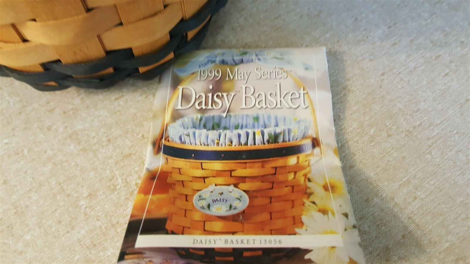 Longaberger 1999 May Series DAISY Basket Fabric Liner & Plastic Protector