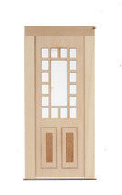 DOLLHOUSE MINIATURE 1:12 SCALE 17-LIGHT 2-RAISED PANELN DOOR #AM2319 - $17.81