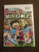 Carnival Games: Mini-Golf (Nintendo Wii, 2008) Putt Putt Rated E NIP 2k Play - $51.99