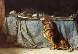 Briton Riviere, Requiescat, 1888, Dog Mourning Master, Death, greiving, ... - $15.99