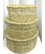 Gold Mesh and Wire Round Nesting Boxes with Lids, Set of 3 - $28.49
