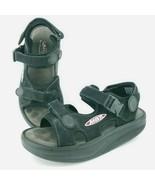 MBT KISUMU Black Leather Nubuck Tone Strappy Sandals Womens 9.5  Mens 7.5 - $65.14