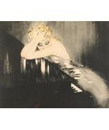 Waltz Dream woman sleeps on piano  Louis ICart Art Deco 8 x 10 photo print - $7.50