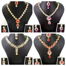 Indian Ethnic Traditional Bollywood Kundan Wedding Bridal Necklace Jewel... - $13.99