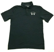 Under Armour Dry Fit Polo Shirt Youth Size Medium YMD Loose Black HeatGe... - $18.99