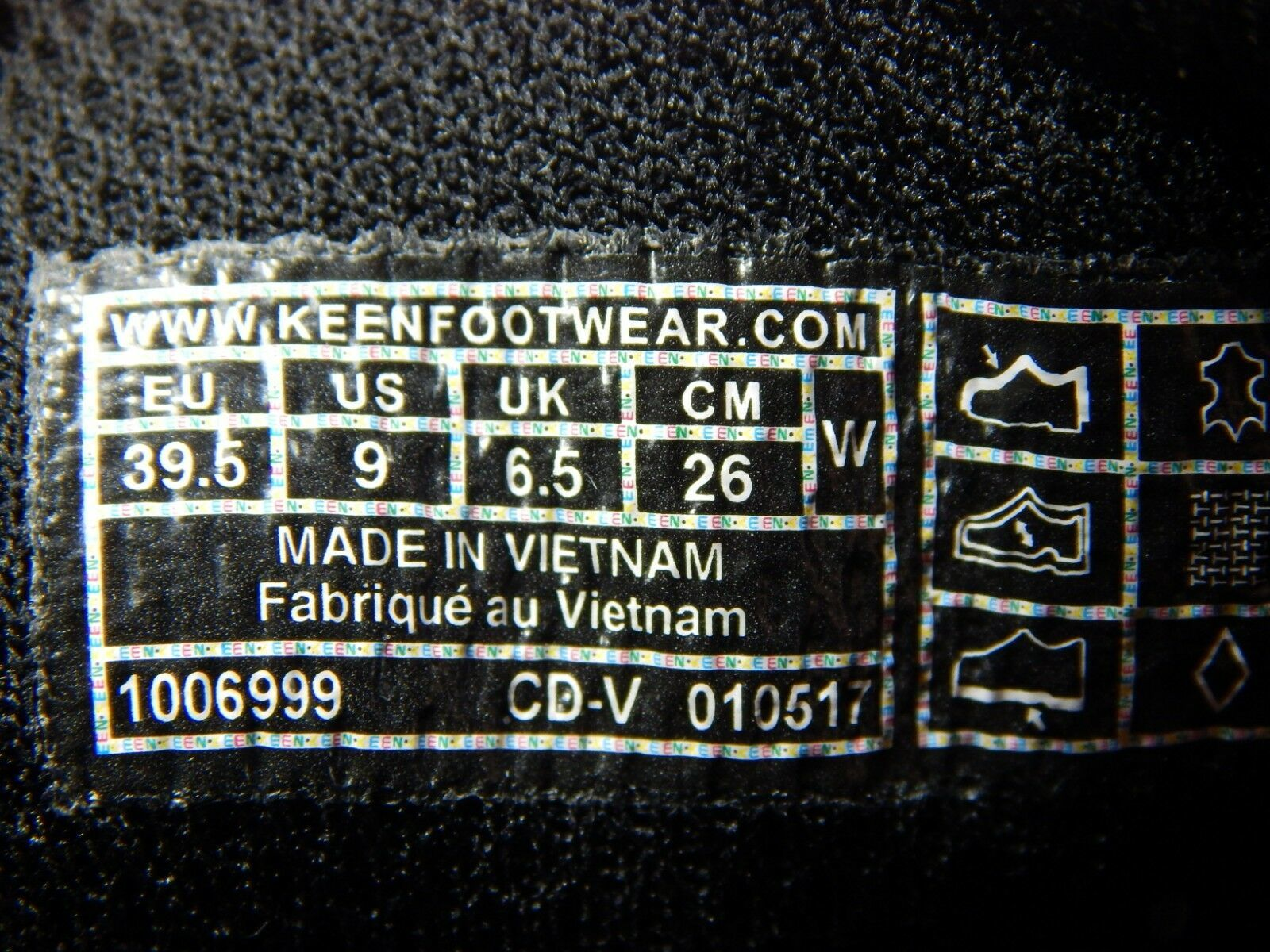 Keen Ptc Oxford Taglia USA 9 M (B) Eu 39.5 Donna con Lacci Scarpe da Lavoro Nero