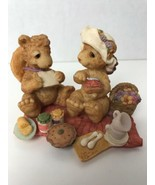 "Bear For All Seasons ""The Picnic"" Figurine 1995 Westland #3748 - $11.88"