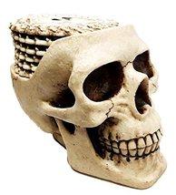 Ebros Day of The Dead Ossuary Skull Cranium Coaster Set Statue Holder wi... - $32.17