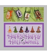 Witch Hat ? halloween sleds cross stitch chart Sue Hillis Designs  - $10.80