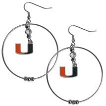 NCAA - Miami Hurricanes 2 Inch Hoop Earrings  - $10.99