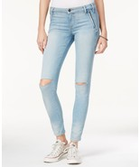 Guess Women's Isabel Curve Ripped Skinny Acton Wash Jeans Size 30 - $48.51