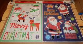 "Christmas Window Clings 15 1/2"" x11 1/2"" 2ea USA Impact Innovations Snow... - $4.49"