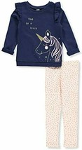 Carters Toddler Girls One of A Kind Unicorn Leggings Set 4T Blue/Pink/Gold - $39.99