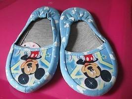 Toddler Boyds Blue Mickey Slipper Size 8.5 Brand New - $5.50