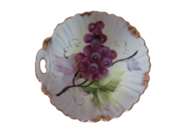 "Lefton China Bowl Grapes Gold Trim #486 Hand Painted 7"" Diameter Japan - $15.84"