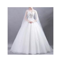 Women Queen Style Flower Ball Gown Wedding Dress - $149.99