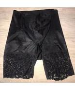 Vintage Cabernet Satin SHAPER LACE PANTY GIRDLE Black Size Medium - $18.59