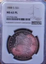 1888 S PL MS62 MORGAN SILVER DOLLAR/ IMPRESSIVE AND RARE. - $465.50