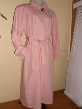 LONDON FOG Pink Trench Coat Fully Lined Sz 6P Vintage made in USA EUC - $29.99