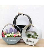 Metal Home Planter for Wall Hanging or ecoration, 3 Pieces - $45.16 CAD