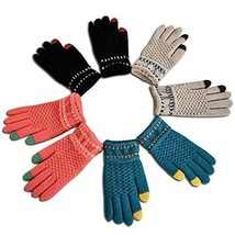 Touch Screen Winter Outdoor Warm Knit Mitten Gloves 4 Pack for Women And... - $21.99