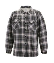 Men's Casual Flannel Button Up Plaid Fleece Warm Sherpa Lined Lightweight Jacket image 9