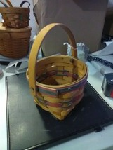 Longaberger Small Swing Handle Basket watch Your Business Bloom - 1997 - $9.15