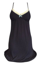Womens Luxury Black or Grey Viscose Slip Chemise Night Gown / Dress, Sma... - $15.99