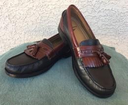 Men's DOCKERS Shoes Black Burgundy Tassle Slip On Loafer Sz 9M   - $78.71