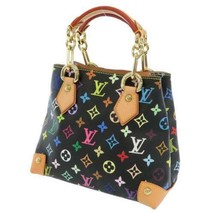 LOUIS VUITTON Audra Monogram Multicolor Canvas Noir M40048 LV Handbag Fr... - $1,455.70