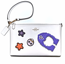 COACH Varsity Patches Large Leather 2-in-1 Wristlet 25 Bag Clutch Purse ... - $129.99