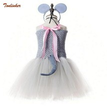 Children Animal Costumes Cosplay Mouse Tail Tutu Dress with Hair Band Pr... - $63.98+
