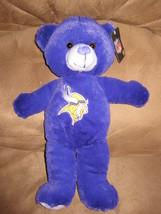 "Nfl Minnesota Vikings Bear Brand New Plush Nwt Stuffed Animal W Tags 14"" - $11.99"
