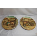 Antique W.H. BOSSONS Chalkware PLAQUE set 2 Wall Hangings Decor England ... - $197.99