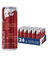 Red Bull Energy Drink, Peach-Nectarine, 24 Pack of 12 Fl Oz, Peach Edition - $64.36