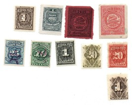 Mixed Lot US Revenue / telegraph Stamps 1800s /20 words , Pacific Mutual... - $55.00