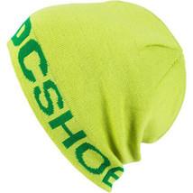 DC Shoes Co. USA Bromont Teschio Berretto Verde Lime Cappello Nwt