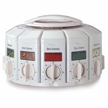Rotating Spice Seasoning Jar Storage Organizer Rack Measuring Dispenser ... - $45.09