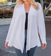 Plus Size Cardigan, Plus Size Cardigan Sweaters, Ivory, Colbert Clothing