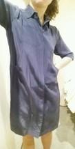 Diane von furstenberg, corn flower blue silk shirt dress, size S - $118.41