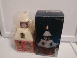 "1982 Vintage 5"" Jasco Christmasville Towne Hall Christmas Candle Unlit  - $12.87"