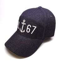 NEW MEN'S POLO RALPH LAUREN DENIM INDIGO BLUE RL67 SPORT BASEBALL HAT CAP - $45.00