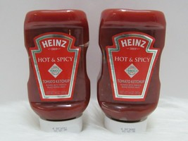 Heinz Hot & Spicy Tomato Ketchup with Tabasco 14 oz Bottles Lot of 2 New Sealed  - $19.79