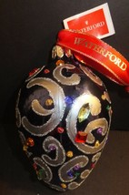 """Waterford Holiday Heirlooms 3"""" Sapphire Scroll Egg 2013 Ornament New In ... - $130.43"""