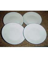 "4 CORELLE BLUE HOOPS BREAD / DESSERT PLATES 6.75"" BRAND NEW FREE USA SHI... - $26.17"