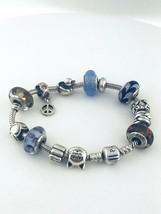 "Pandora Sterling Silver 13 Charms Bracelet 7.5""inch Long - $205.80"